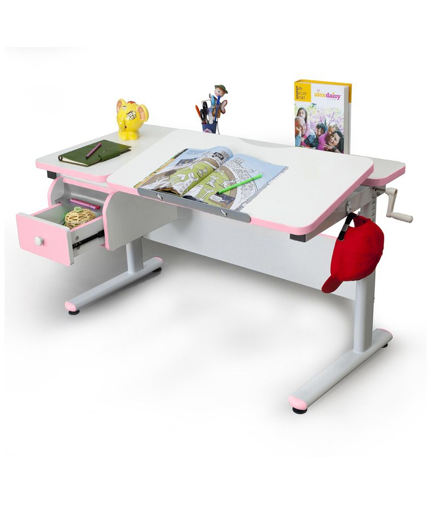 ... Alex Daisy Study Table   Height Adjustable   Pink ...