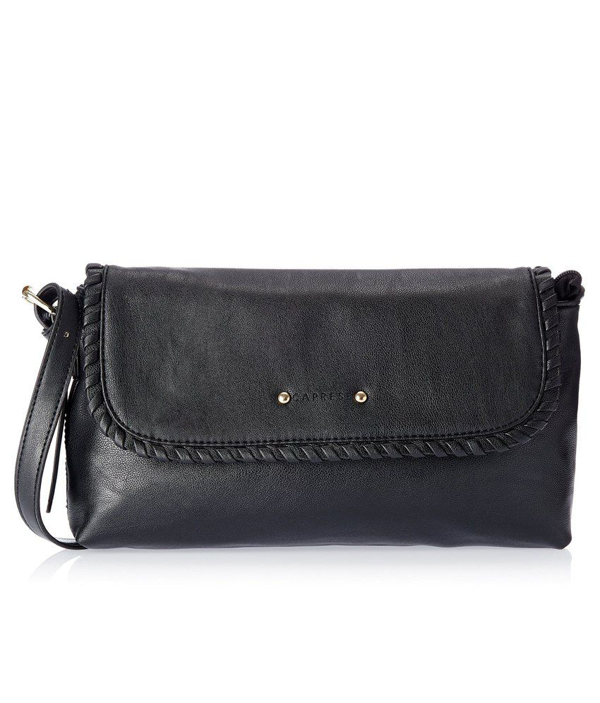 Caprese Anya Small Black Sling Bag - Buy Caprese Anya Small Black ...