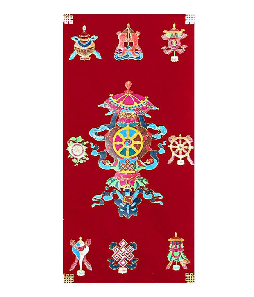Dollsofindia Buddhist Symbol Tibetan Thangka Folk Art