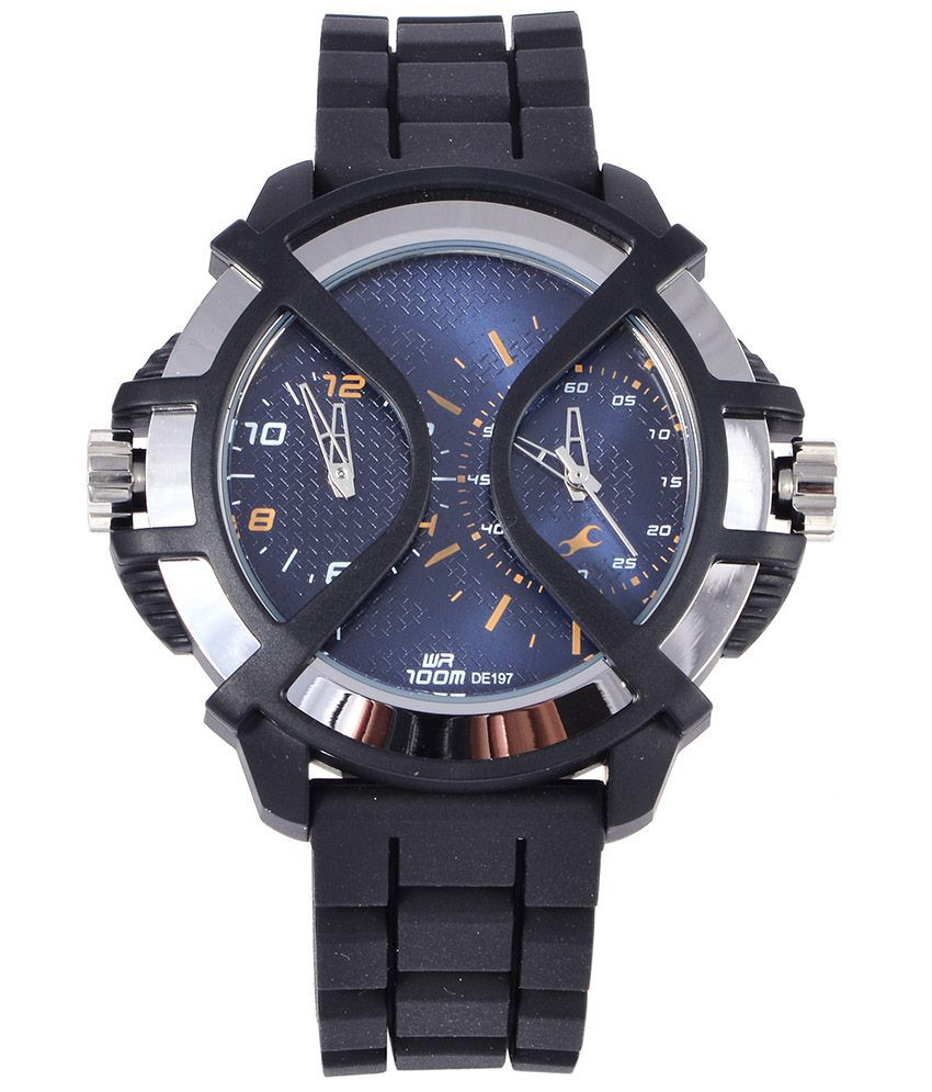 fastrack 38016pp01j casual dual time watch for men buy fastrack fastrack 38016pp01j casual dual time watch for men