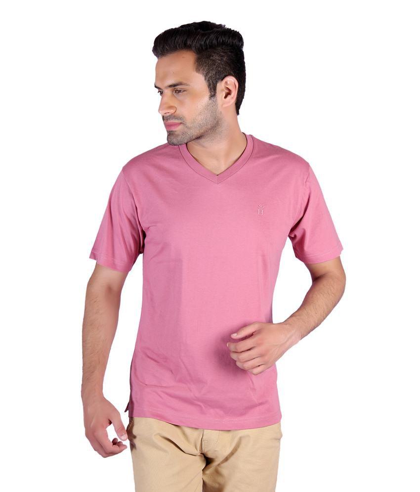 Humbert Pink V-neck T-shirt