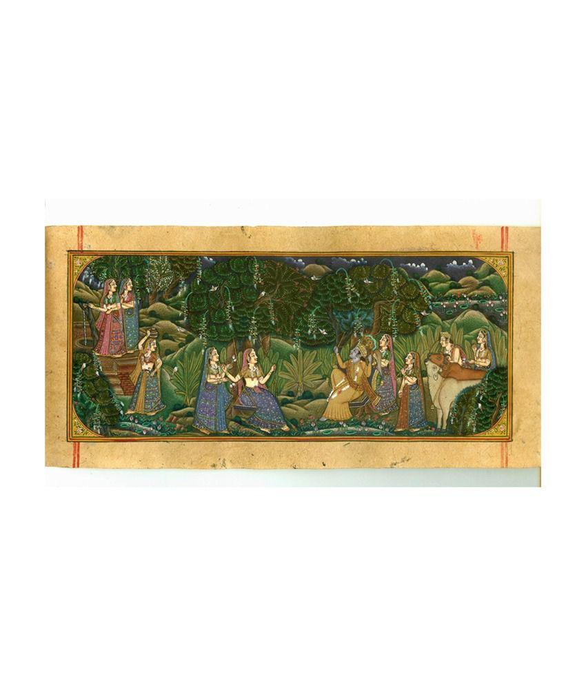 Konark Lord Radha Krishna Rasleela Painting