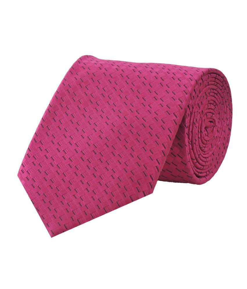 Tiekart Pink Chequered Necktie