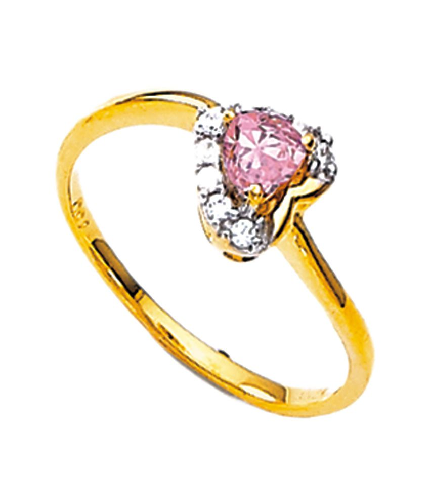 Agni Beautiful Heart Shape 18 Kt Gold Ring