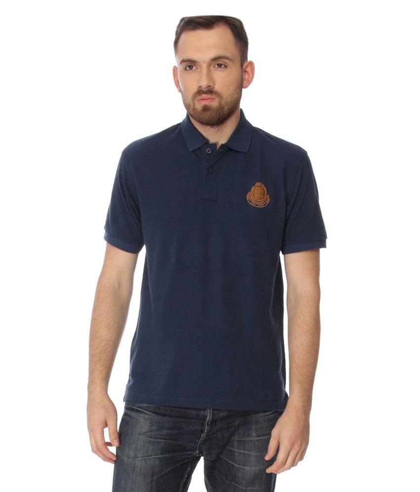 Laven Navy Cotton Blend T-shirt