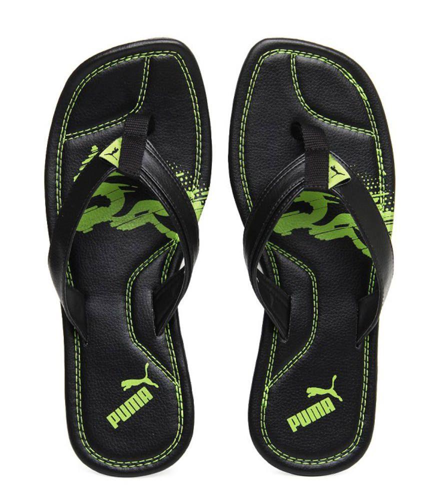 puma green slippers