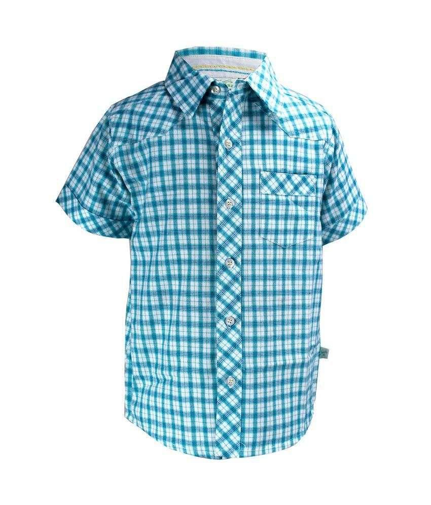Shoppertree Sky Blue Cotton Shirts Buy Shoppertree Sky
