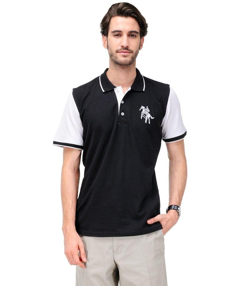 Yepme Black Cotton T-shirt