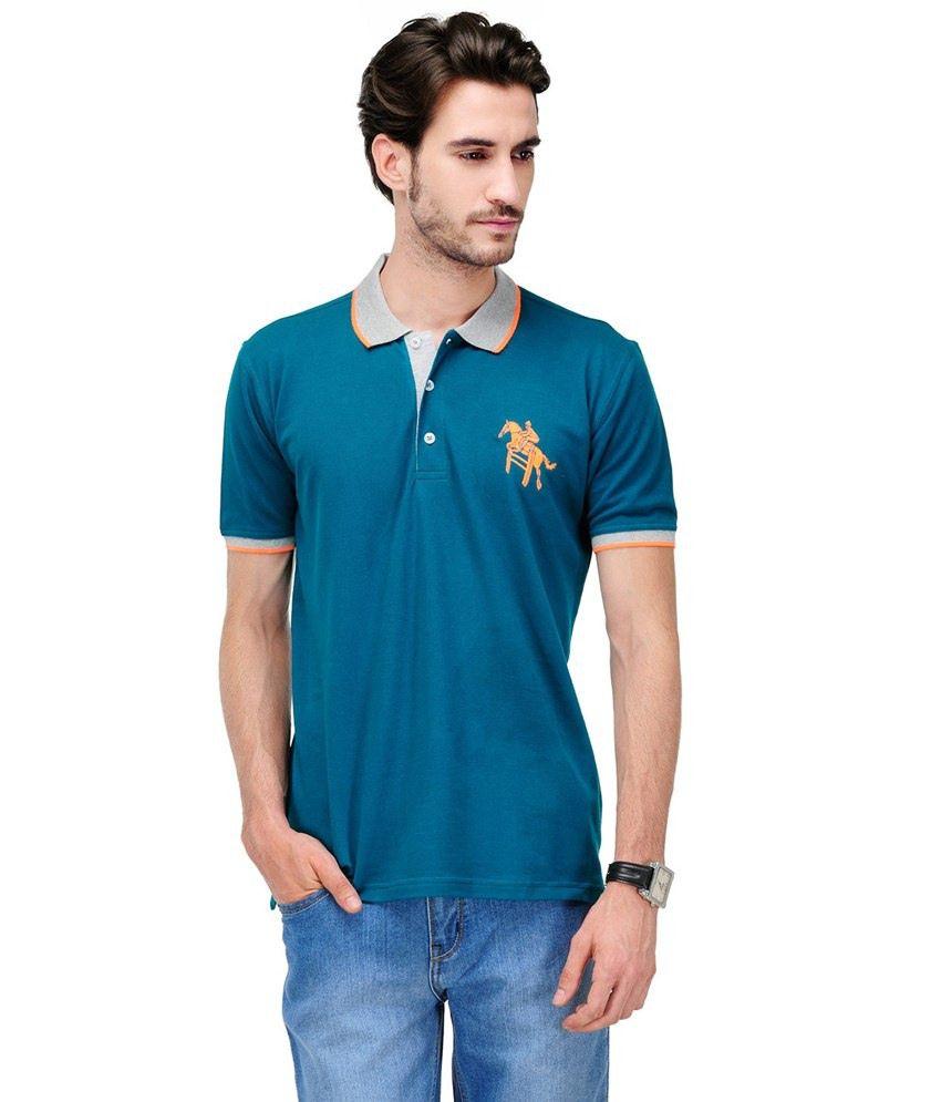 Yepme Blue Cotton T-shirt