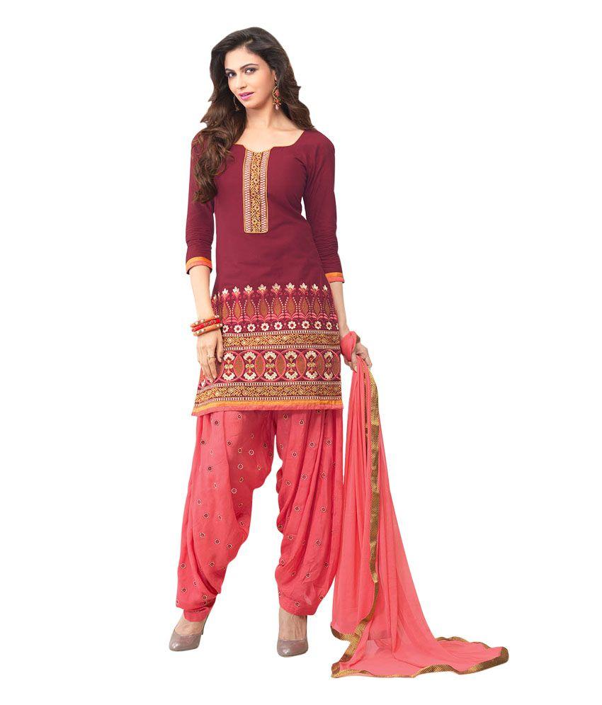 d4b4fec2c7 Patiala Vol 21 Purple Cotton Silk Embroidered Regular Dress Material with  Dupatta - Buy Patiala Vol 21 Purple Cotton Silk Embroidered Regular Dress  Material ...