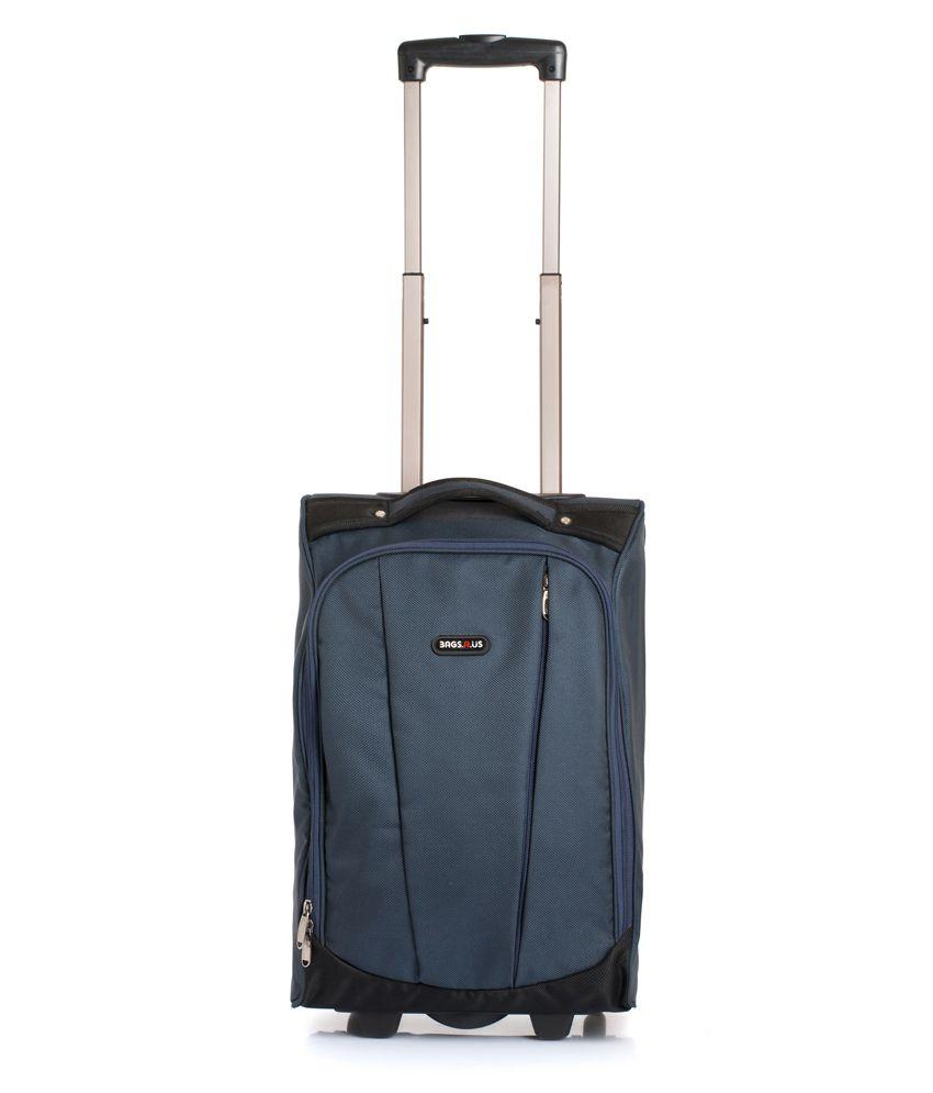 Bags.R.Us Blue Polyester 2 Wheel Weekender Trolley