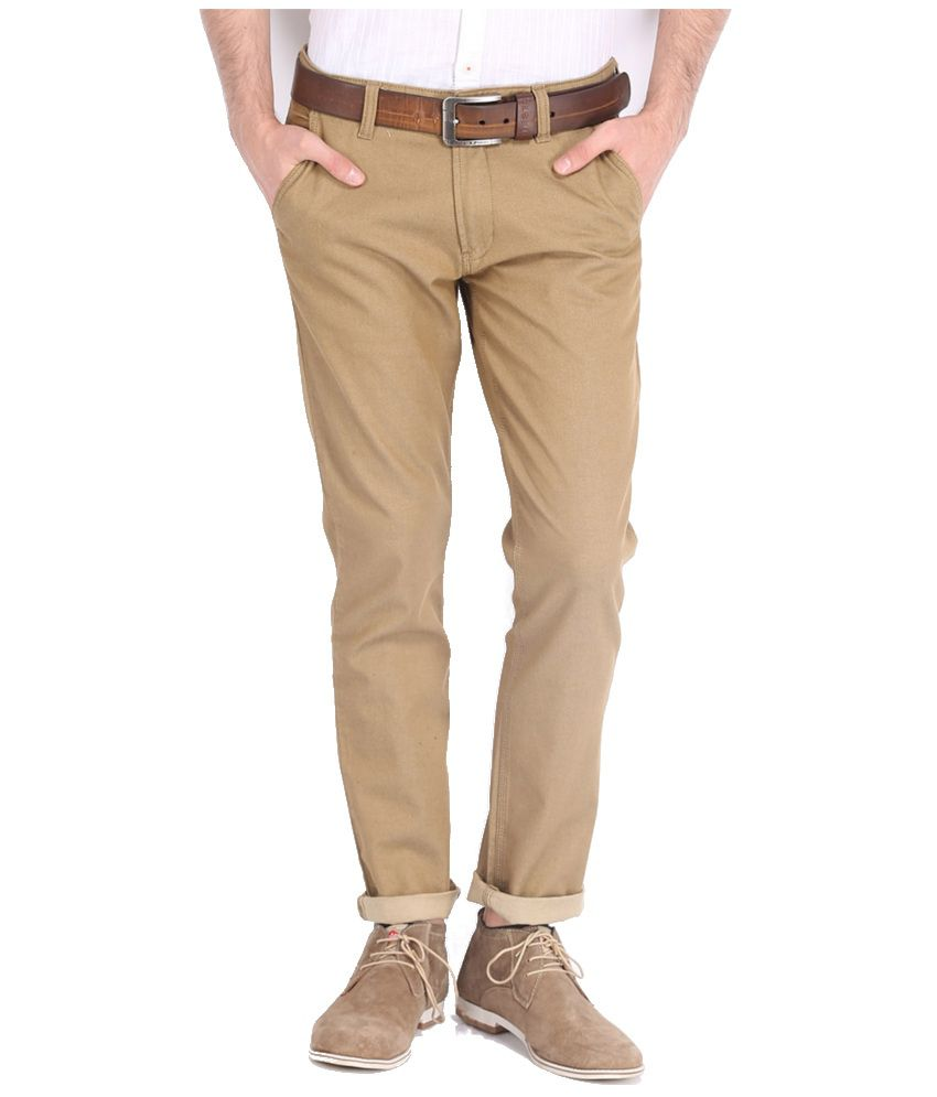 Highlander Khaki Slim Casuals