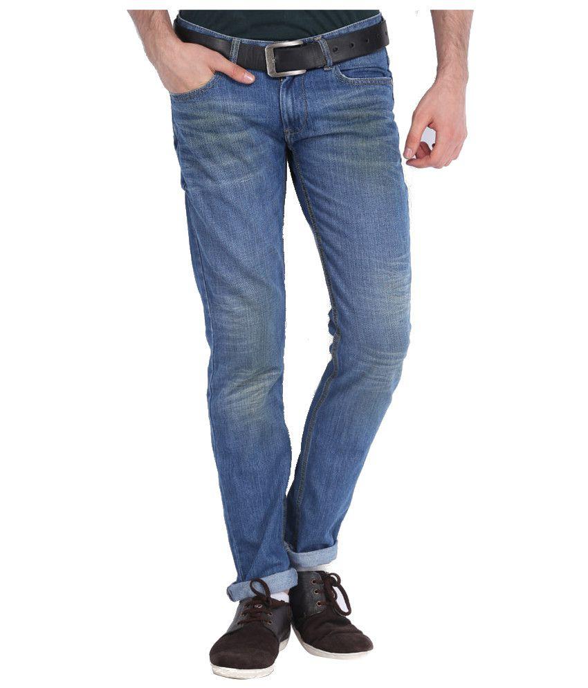Locomotive Blue Slim Jeans Slim Fit