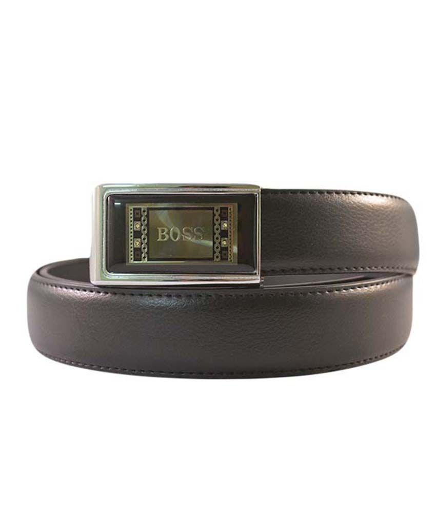 Kalon Black Leather Belt For Men
