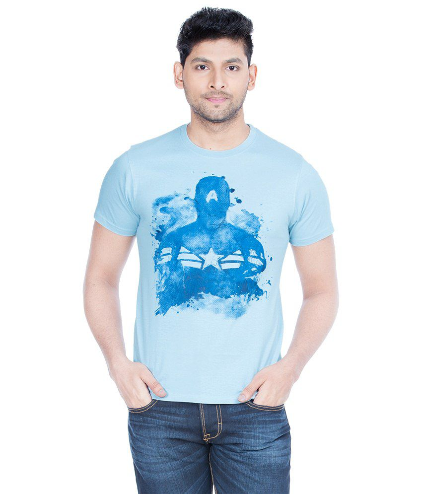 Zovi Blue Cotton T-shirt