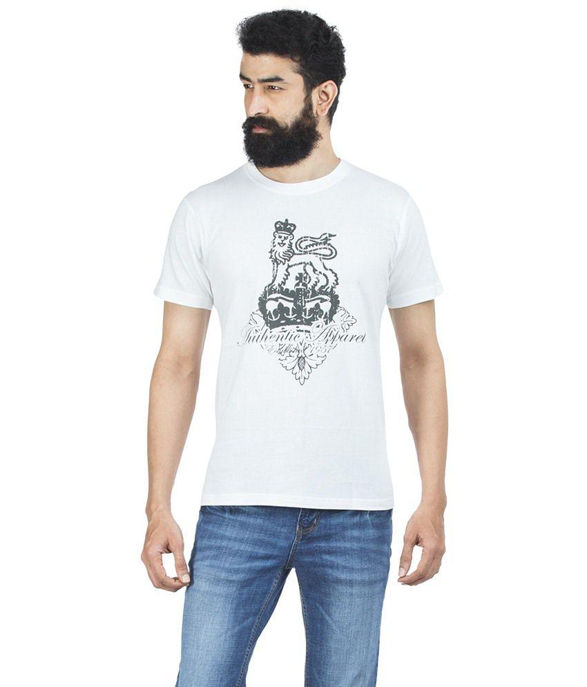Zovi White Cotton T-shirt