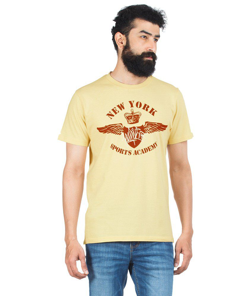 Zovi Yellow Cotton T-shirt