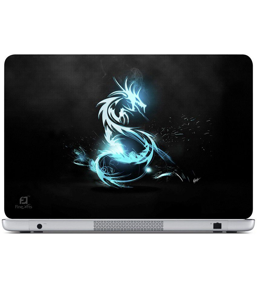 Finearts Textured Laptop Skin Blue Dragon