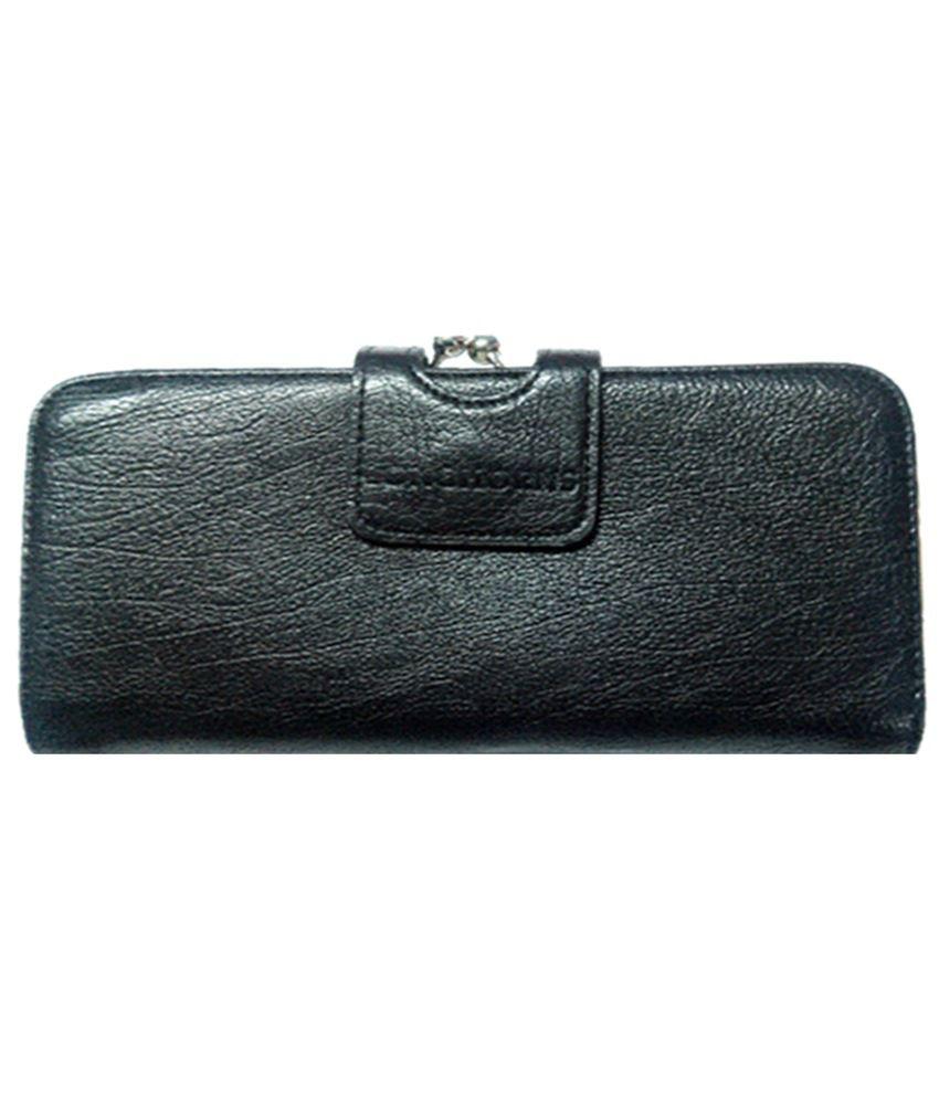 Longhorns Black Women Lc Nl12 Leather Wallet