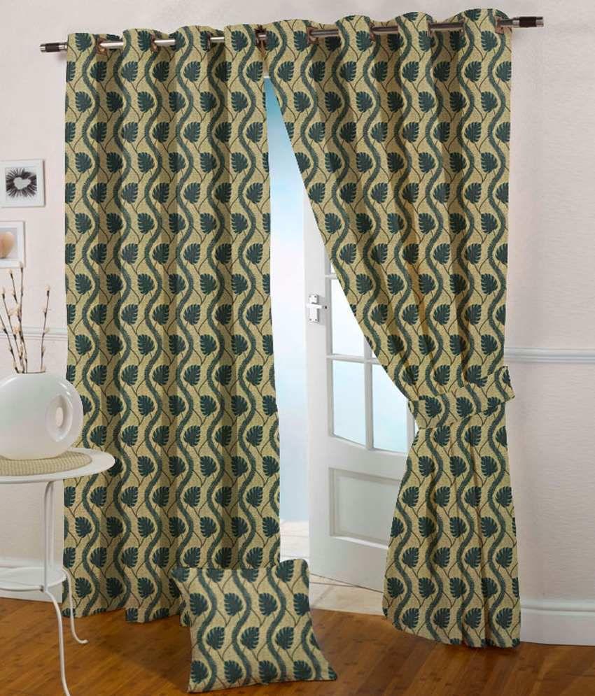 Presto Single Door Eyelet Curtain Floral Blue