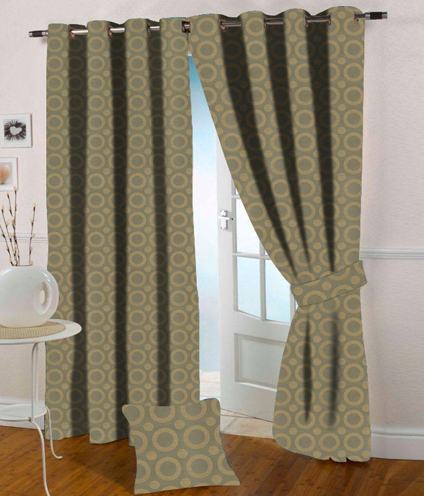 Presto Single Window Eyelet Curtain Geometrical Green