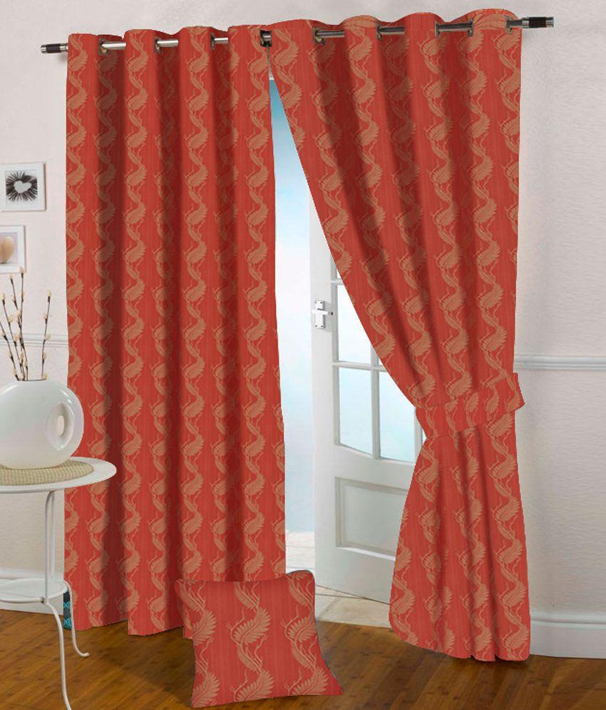 Presto Single Window Eyelet Curtain Contemporary Pink