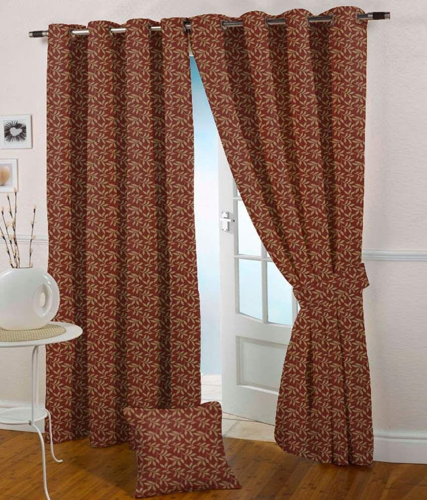 Presto Single Door Eyelet Curtain Red