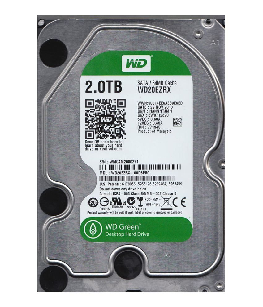 WESTERN DIGITAL  2 TB Sata Internal Hard Drive