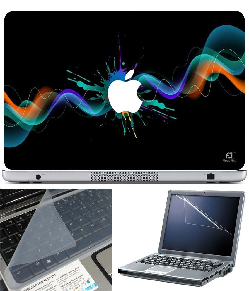 Finearts Laptop Skin 15.6 Inch With Key Guard And Screen Protector Artistic Apple