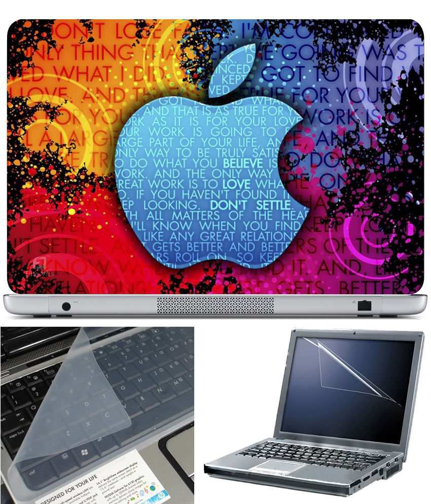 Finearts Laptop Skin 15.6 Inch With Key Guard And Screen Protector Apple Work