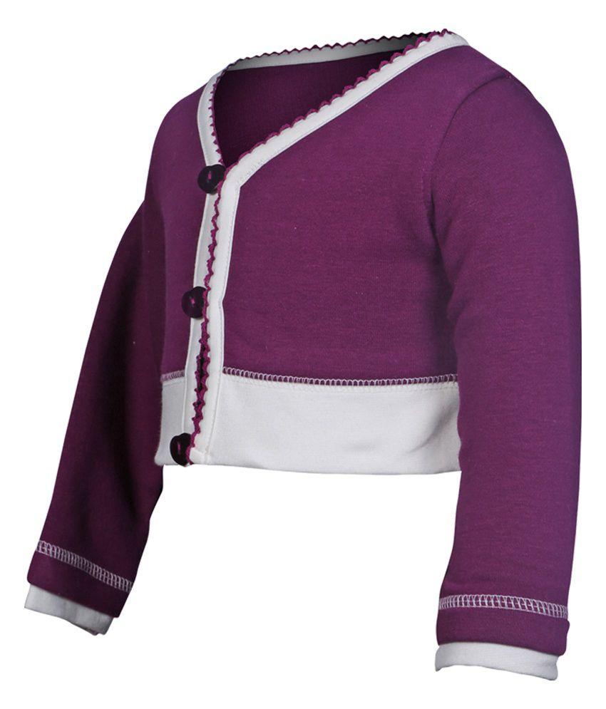 Goodway Infants Full Open Sweatshirt - Purple