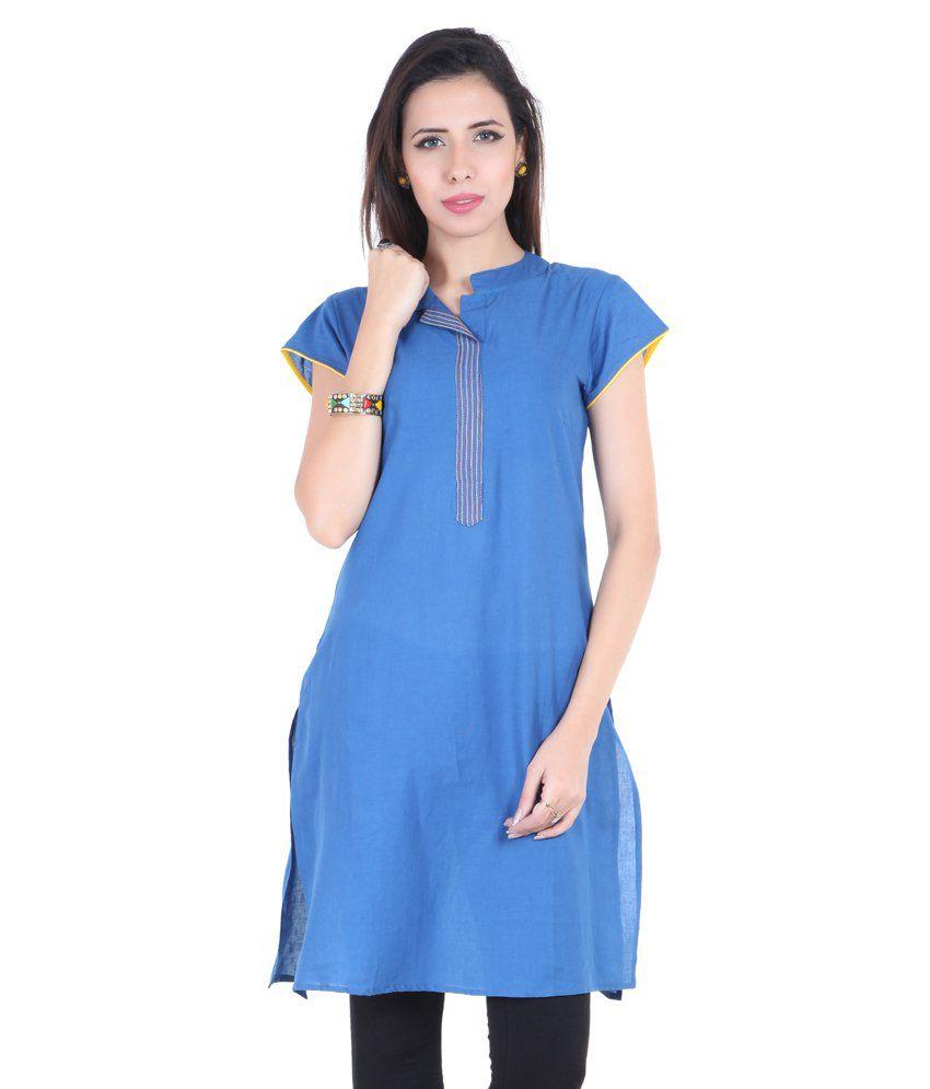 Namakh Adbl0021 Blue Kurti