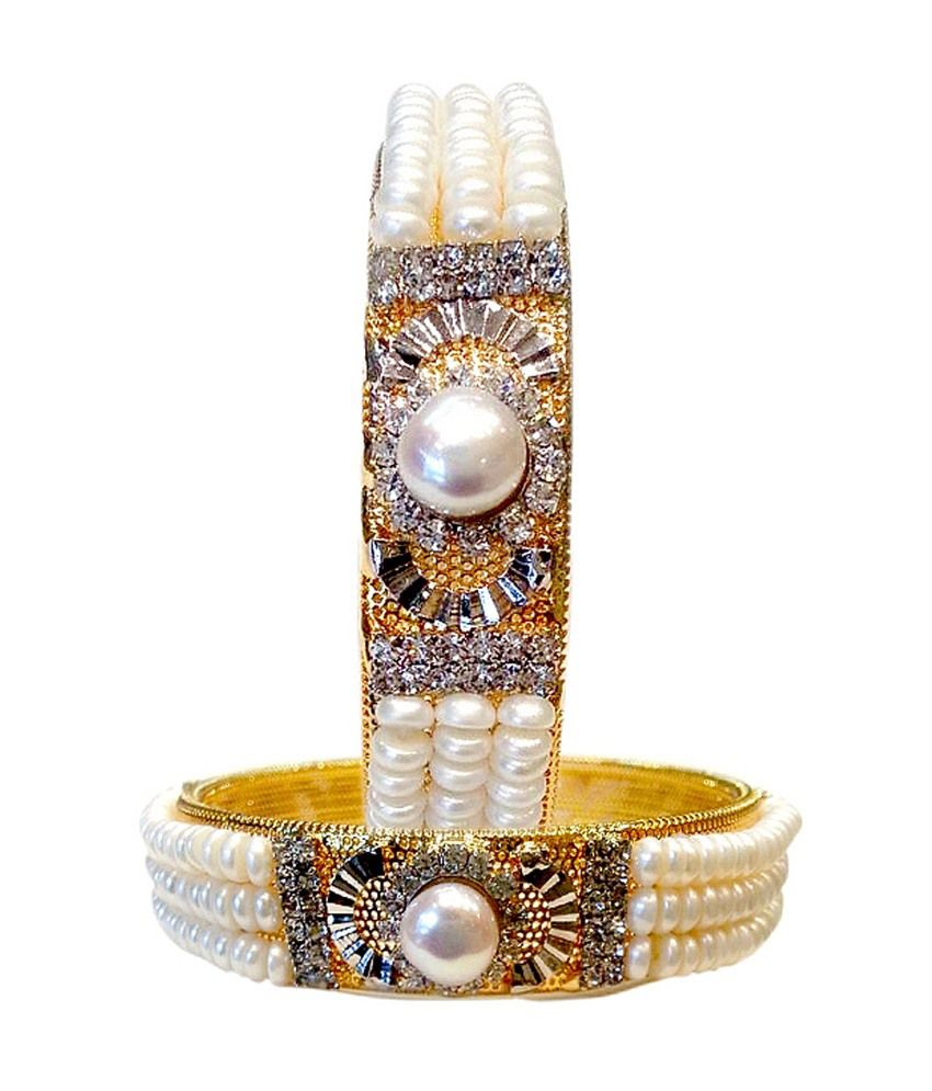 Sri Kapi Pearls Natural Pearls Bangles 1 Pair Classy
