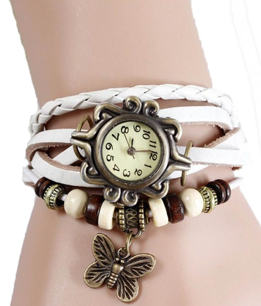 Cilver Fashion Vintage Style Butterfly Pendant Watch White Price In India Buy Cilver Fashion