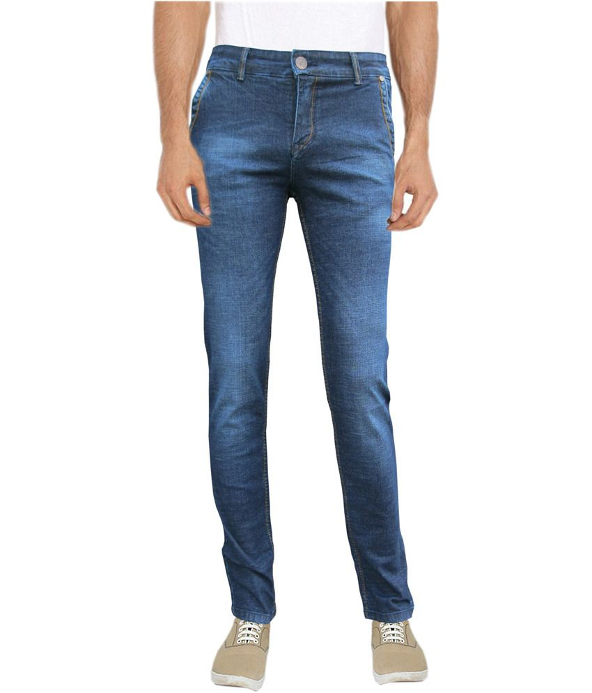 White Pelican Jeans Blue Raw With Lycra Denim Slim Fit