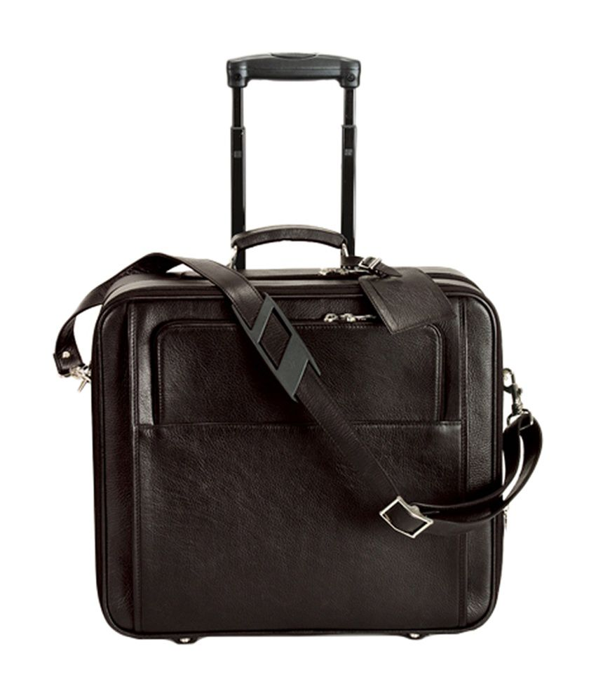 Adamis Stylish 2 Wheel Brown Laptop Bag