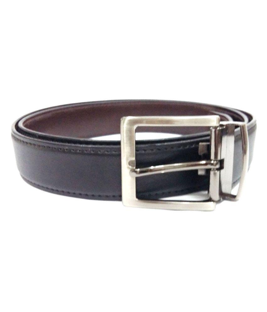 Craftstages Stylish Black Formal Belt For Men