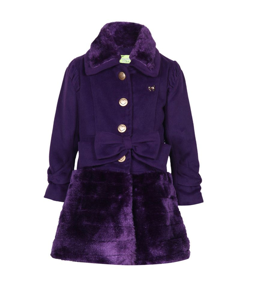 Cutecumber Purple Mesh Full Sleeve Jacket
