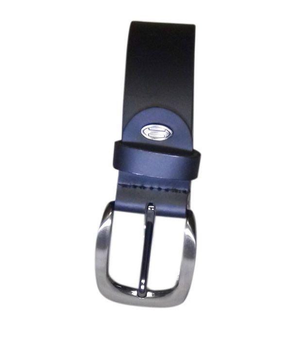 Manshkhino Black Leather Pin Buckle Belt For Men