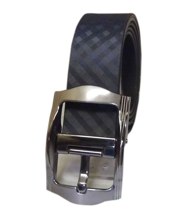 Manshkhino Black Leather Pin Buckle Belt For Men