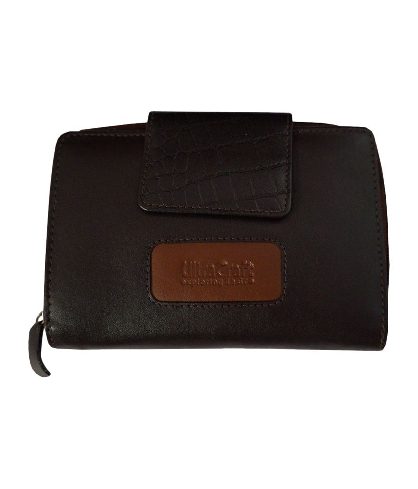 Ultra Craft Brown Leather Casual Women Wallet