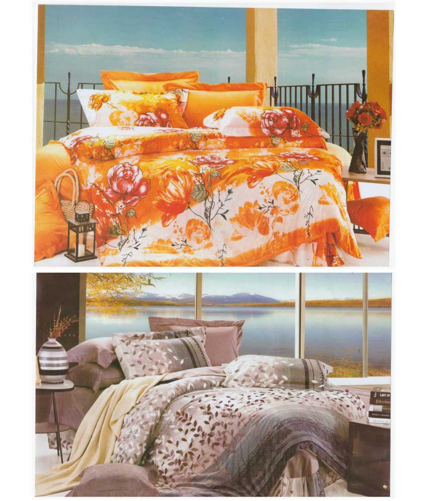 My house multicolour printed polycotton double bedsheet for Price my house free online