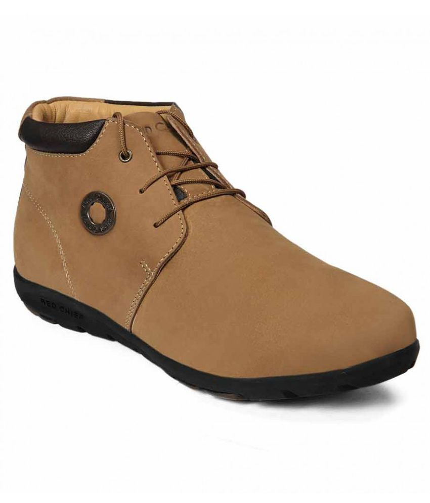 Red Chief Tan Boots For Men
