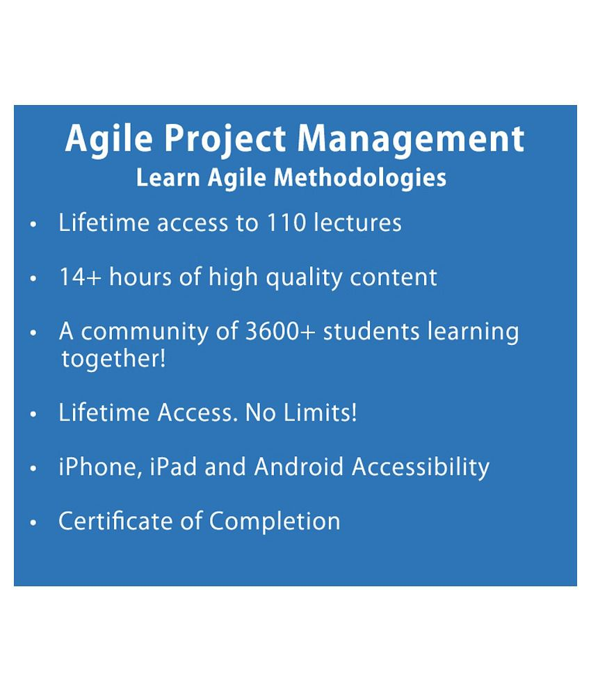Agile Project Management E Certificate Course Project Management