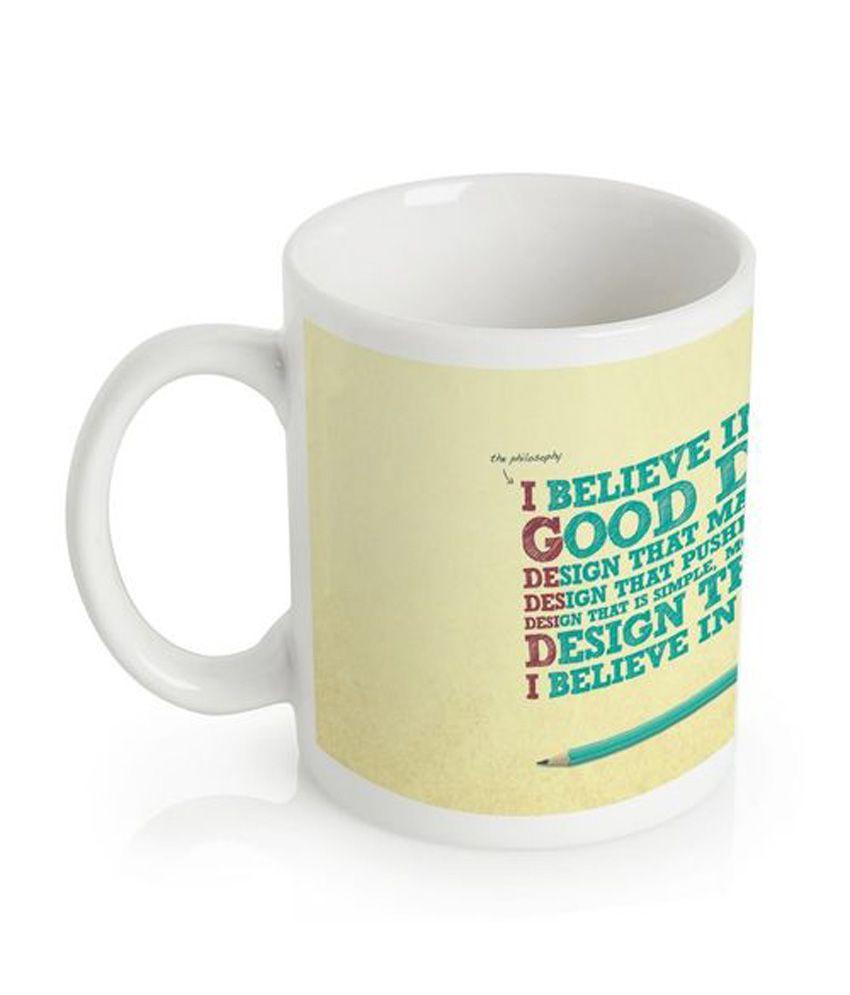 Amore White Ceramic Raivishing Mug
