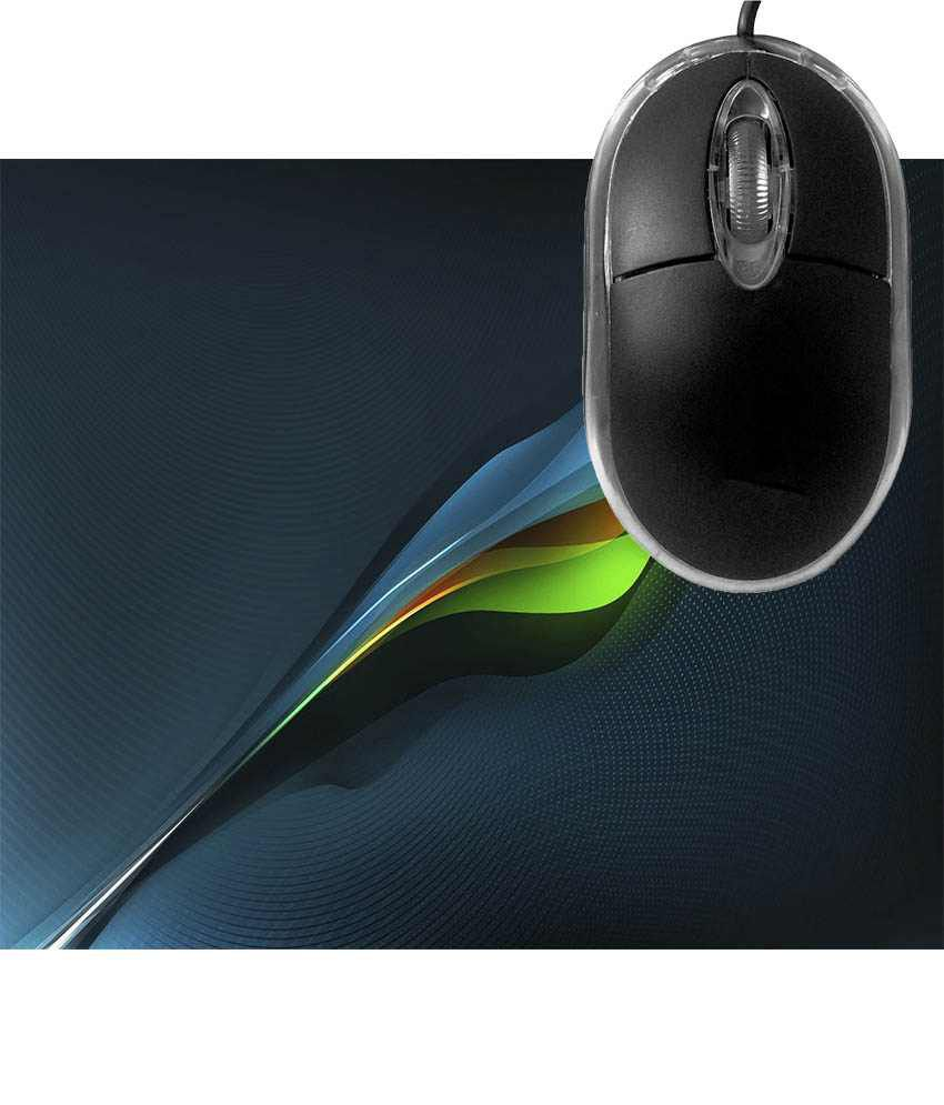 FineArts Colourful Wave Mousepad with Terabyte 3D Optical USB Mouse