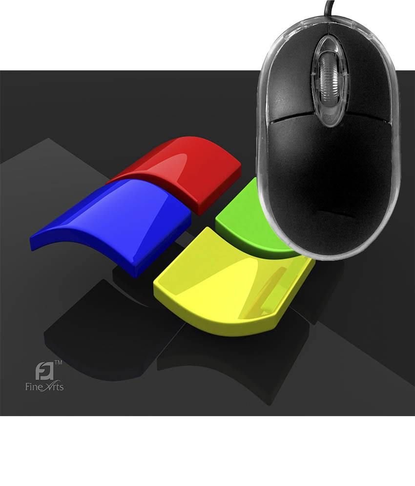 FineArts Windows Mousepad with Terabyte 3D Optical USB Mouse