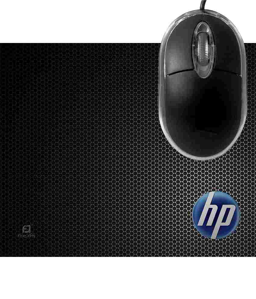 FineArts HP Circle Mousepad with Terabyte 3D Optical USB Mouse