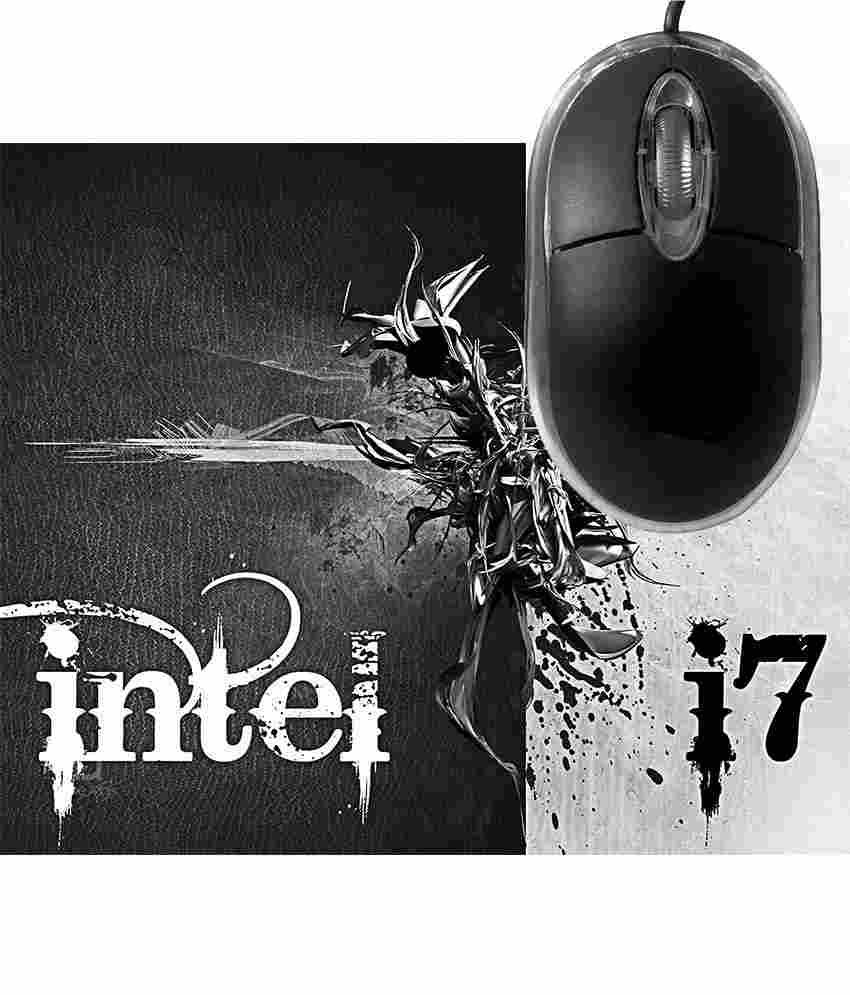 FineArts Intel I7 Mousepad with Terabyte 3D Optical USB Mouse