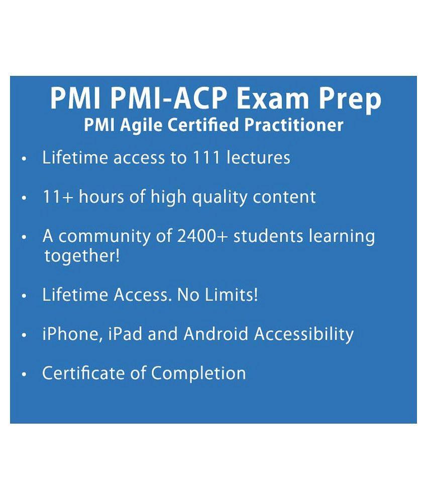 Pmi Acp Exam Prep Pmi Agile Certified Practitioner E Certificate